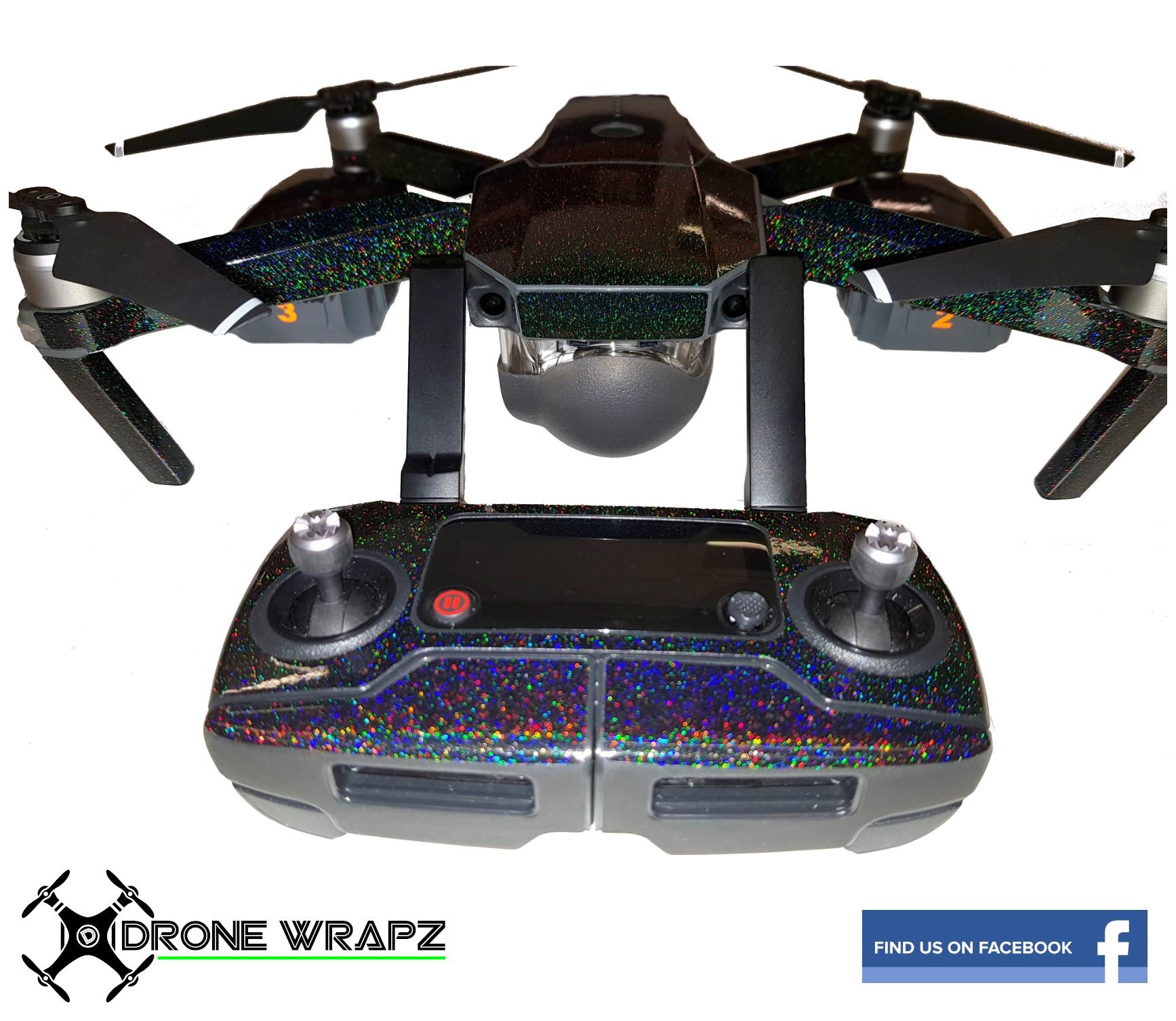 78e03f1b695 DJI Mavic Morpheus Black wrap - Drone Wrapz