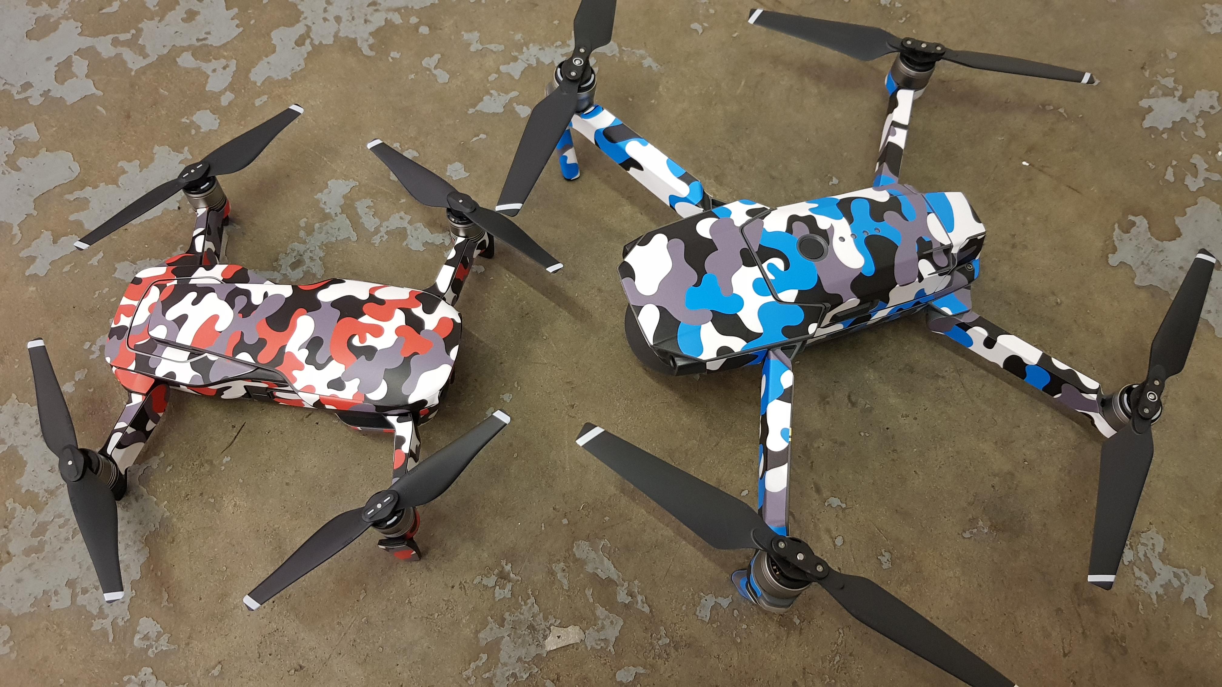 c47055905a6 DJI Mavic Urban Camouflage Twist Red wrap - Drone Wrapz