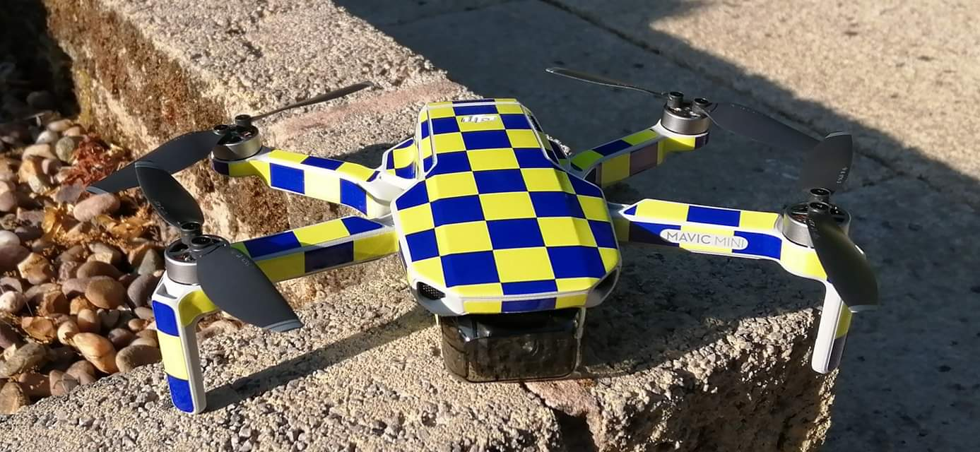 Decal UK made Rescue style Battenberg Skin DJI Mavic Mini Wrap Fire Safety